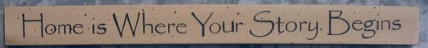 36926HC-Home is Where Your Story Begins wood block