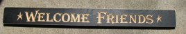 Engraved wood block 36WFB - Welcome Friends