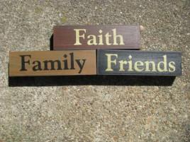 30942FFF Faith Family & Friends wood blocks