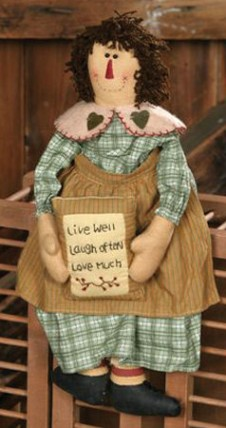 Primitive Doll 3D6048-Live Love Laugh