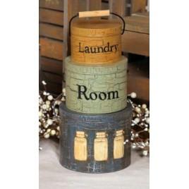 3T7119-Laundry Room-Tin set of 3