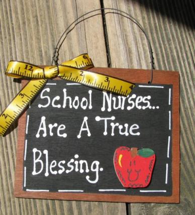 Teacher Gifts #40 School Nurses Are A True Blessing Wood Slate