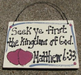 4006 - Seek ye first the Kingdom Matthew 6:33