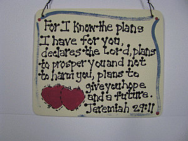 Crafts Wood Scripture Sign 4015 - Jeremiah 29:11