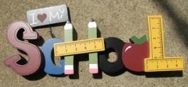 40688 - I love my School wood tabletop sign