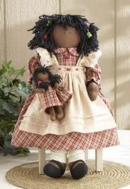 Primitive Doll 40691 - Raggedy Doll Red Dress