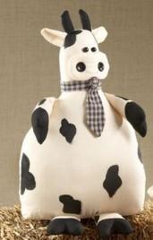 40752W - Fabric Cow Door Stop