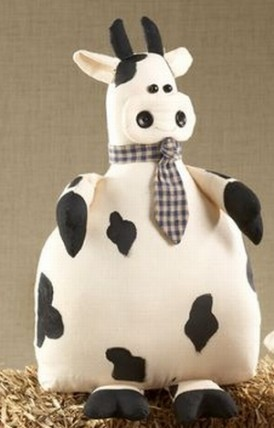 40752W - Fabric Cow Door Stop