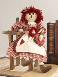 41568-Red Doll Raggedy Girl with doll