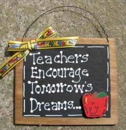 Teacher Gift 42 Teachers Encourage Tomorrow's Dreams Wood Teacher Slate