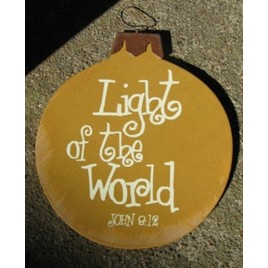Wood Christmas Ornament 45098T - Light of the World