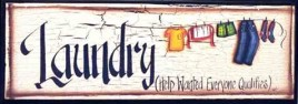 45900TL - Laundry Help Wanted Everyone Qualifies Wood Sign