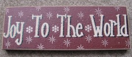47142JW- Joy To the World wood block