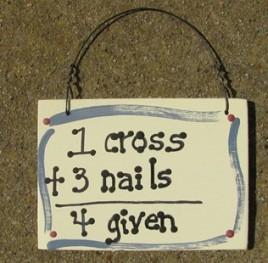 4Given = 1 cross + 3 Nails