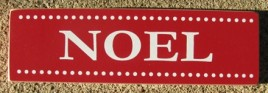 51329F - Noel Red wood block