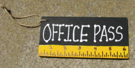 Teacher Gifts 5202 Office Pass Black with Ruler