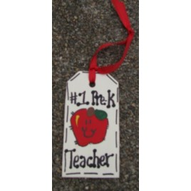 56122PK #1 Pre-K Teacher Wood Tag