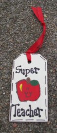 Teacher Gifts 56122ST  Super Teacher  Wood Tag