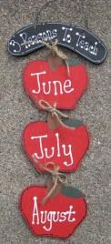 Teacher Gift Wood Stringer 563R- 3 Reasons For Teaching June July August