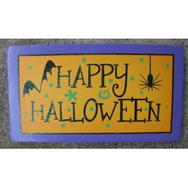 59038HH - Happy Halloween wood Block