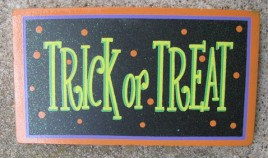 59038TT - Trick or Treat Wood block