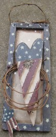5909H-Patriotic Heart Star with Berries/Twigs