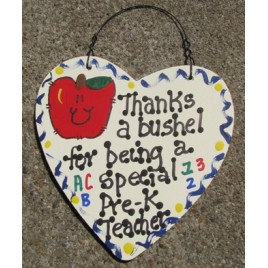 Teacher Gifts  6000  Thanks a Bushel for being a special Pre-K Teacher