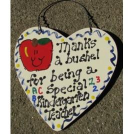Teacher Gifts  6001  Thanks a Bushel for being a special Kindergarten Teacher