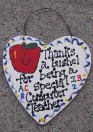 Computer Teacher Gift 6021 Thanks a Bushel Special Computer Teacher