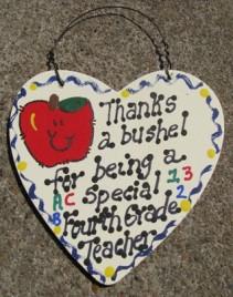 4th Grade Teacher Gift Thanks a Bushel 6023 fourth Grade Teacher