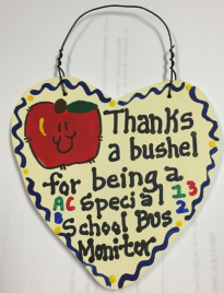 Teacher Gift  6030 Thanks a Bushel Special School Bus Monitor