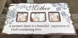 60991M - A Mother's Heart is a beautiful expression of God's everlasting love wood picture frame