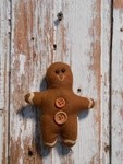 6569 Gingerbread Brown Ornament