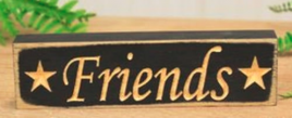Primitive Country 6F Friends engraved wood  Block