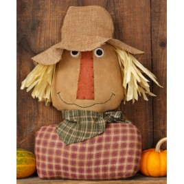 Scarecrow Primitive Cloth and Burlap 6D3192bm - Scarecrow Head/shoulders