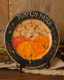 6W1518 - Pumpkin Patch Wood Plate