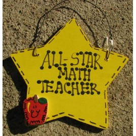 Teacher Gifts Yellow 7021 All Star Math Teacher