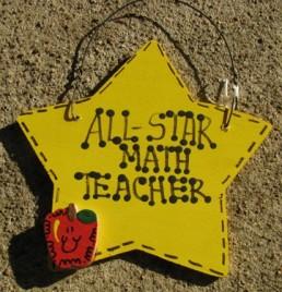 Teacher Gifts Yellow 7021 All Star Math Teacher