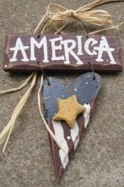 713A - America Wood Sign