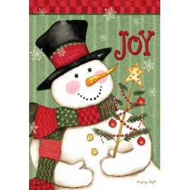 House  Flag  2773  Snowman Joy