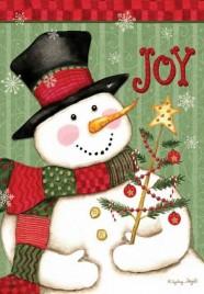 House  Flag  2773  Snowman Joy