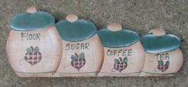 721C - Flour Sugar Coffee and Tea wood block