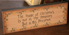 7W0013-The Magic of Christmas wood block