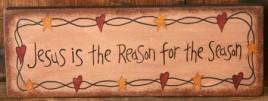 7W0014  Jesus Is the Reason for the Season wood block