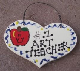 Teacher Gifts  807 Art Teacher Wood Teacher Heart