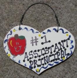 Teacher Gifts  809 Assistant Principal  Wood Teacher Heart