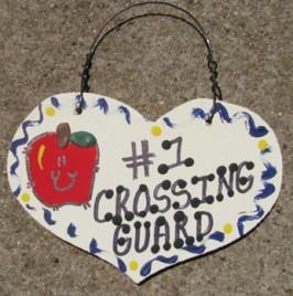Teacher Gifts  812 Crossing Guard Wood Teacher Heart