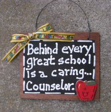 Teacher Gift  81C  Behind Every Great School is a Caring Counselor  Wood Slate