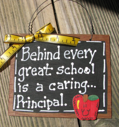 Teacher Gifts  81P Behind every great school is a caring Principal