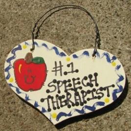 Speech Therapist Teacher Gifts Number One 820 Speech Therapist Heart